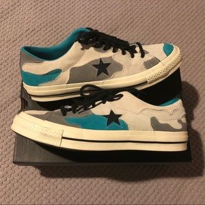 Converse One Star Camo Suede Low Top Sneakers